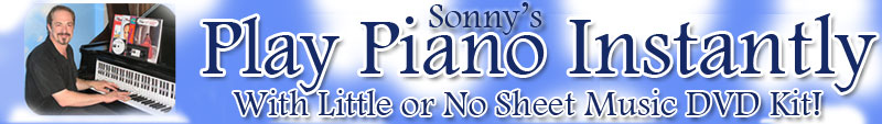 Sonny's Piano Yoga - Play Piano Instantly DVD Kit